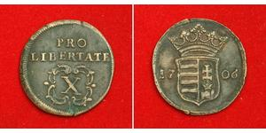 10 Poltura Ungheria Rame Francesco II Rákóczi(1676 – 1735)