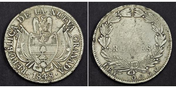 10 Real Republic of New Granada (1831–1858) 銀