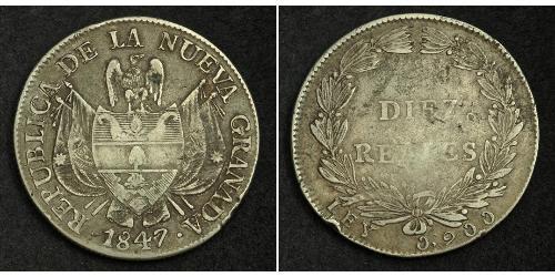10 Real Repubblica della Nuova Granada (1831–1858) Argento