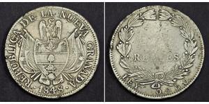 10 Real República de la Nueva Granada (1831–1858) Plata