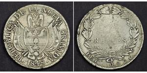 10 Real Republic of New Granada (1831–1858) Silver