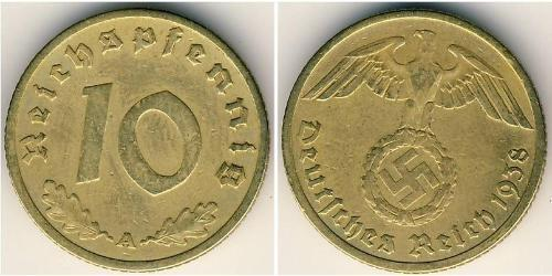 10 Reichpfennig Nazi Germany (1933-1945) Brass