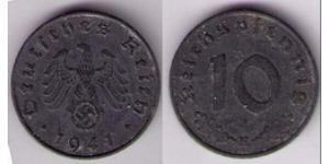 10 Reichpfennig Alemania nazi (1933-1945) Zinc