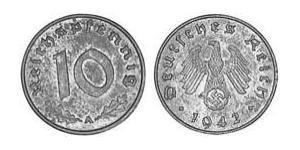 10 Reichpfennig Nazi Germany (1933-1945) Zinc