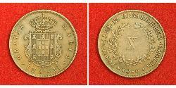 10 Reis Reino de Portugal (1139-1910) Cobre María II de Portugal (1819-1853)