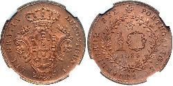 10 Reis Azores / Kingdom of Portugal (1139-1910) Copper