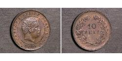 10 Reis Kingdom of Portugal (1139-1910) Copper/Nickel Carlos I of Portugal (1863-1908)