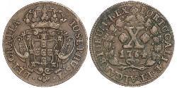 10 Reis Regno del Portogallo (1139-1910) Rame Joseph I of Portugal (1714-1777)