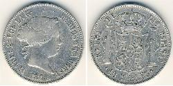 10 Rial Kingdom of Spain (1814 - 1873) Silver