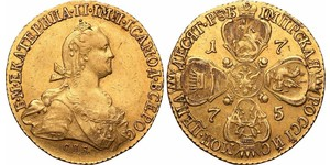 10 Rouble Empire russe (1720-1917) Or Catherine II (1729-1796)