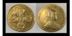 10 Ruble Russian Empire (1720-1917) Gold Jelisaweta I Petrowna (1709-1762)