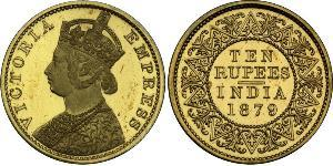 10 Rupee 英属印度 (1858 - 1947) 金 维多利亚 (英国君主)