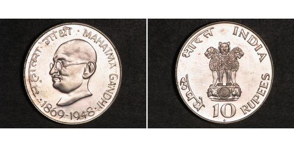 10 Rupee India Plata