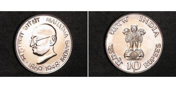10 Rupee Indien Silber