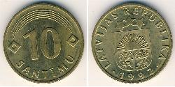 10 Santims Latvia (1991 - ) Brass