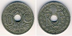 10 Sent French Third Republic (1870-1940)  Copper/Nickel