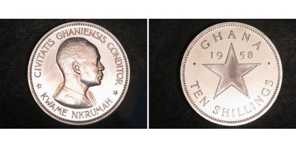 10 Shilling Ghana Argent