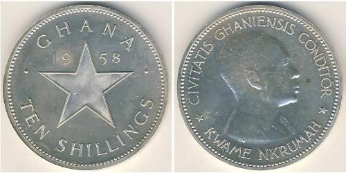 10 Shilling Ghana Argento
