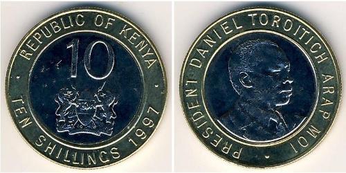 10 Shilling Kenya Bimetal