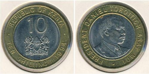 10 Shilling Kenia Bimetall