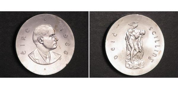 10 Shilling Irlanda (1922 - ) Plata