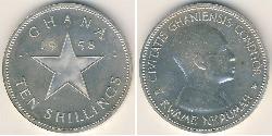 10 Shilling Ghana Silver