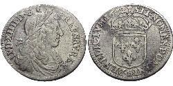10 Sol Kingdom of France (843-1791) Silver