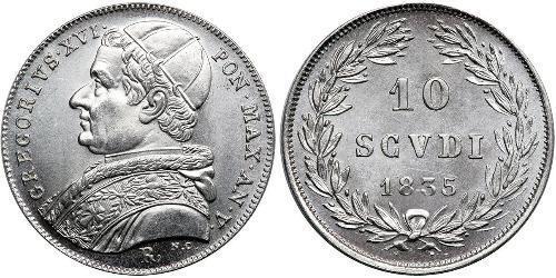 10 Soldo États pontificaux (752-1870) Argent Grégoire XVI