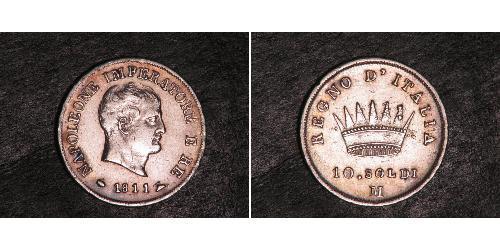 10 Soldo Reino de Italia (1805–1814) Plata Napoleón Bonaparte(1769 - 1821)
