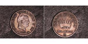 10 Soldo Königreich Italien (1805–1814) Silber Napoleon Bonaparte(1769 - 1821)
