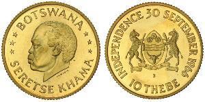 10 Thebe Botsuana Oro