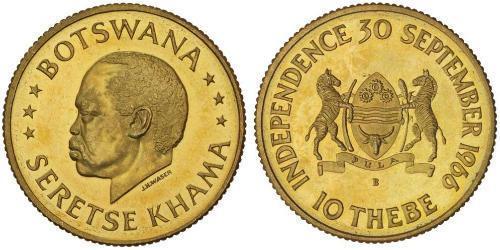 10 Thebe Botswana Oro