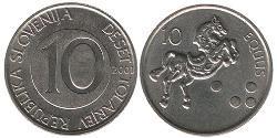 10 Tolar Slowenien Kupfer/Nickel