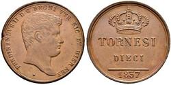 10 Tornesi Italian city-states Мідь