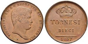 10 Tornesi Italian city-states 銅