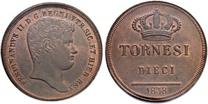 10 Tornesi Italian city-states Copper
