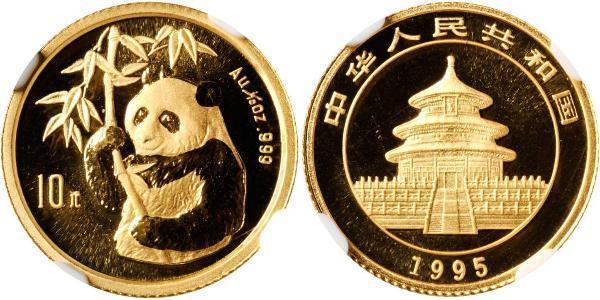 10 Yuan 中华人民共和国 金