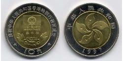 10 Yuan China Bimetal