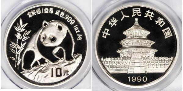 10 Yuan Volksrepublik China Silber