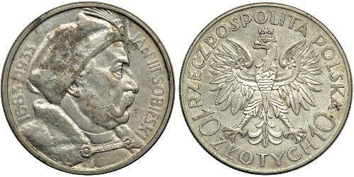 10 Zloty 波兰第二共和国 (1918 - 1939) / 波兰 銀 扬三世 (波兰)