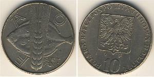 10 Zloty 波兰人民共和国 (1944 - 1989) 銅/镍