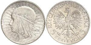 10 Zloty Deuxième République de Pologne (1918 - 1939) Argent