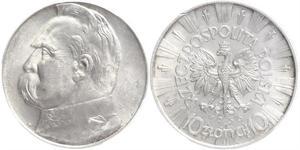 10 Zloty Seconda Repubblica Polacca (1918 - 1939) Argento Józef Piłsudski