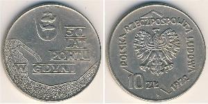 10 Zloty República Popular de Polonia (1952-1990) Níquel/Cobre