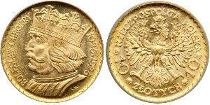 10 Zloty Seconda Repubblica Polacca (1918 - 1939) Oro