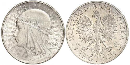10 Zloty Segunda República Polaca (1918 - 1939) Plata