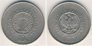 10 Zloty Repubblica Popolare di Polonia (1952-1990) Rame/Nichel