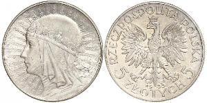 10 Zloty Zweite Polnische Republik (1918 - 1939) Silber