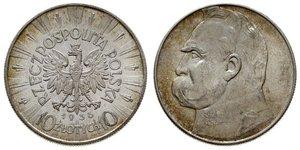 10 Zloty Zweite Polnische Republik (1918 - 1939) Silber Józef Piłsudski