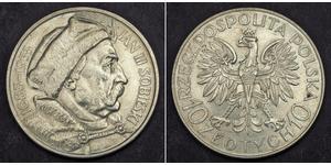 10 Zloty Poland / Second Polish Republic (1918 - 1939) Silver John III Sobieski (1629-1696)